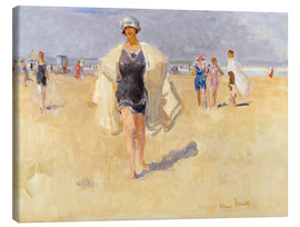 Canvas print  Lady on the beach of Viareggio - Isaac Israels