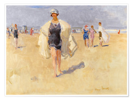Premium poster Lady on the beach of Viareggio