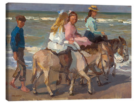 Canvas  To ride a donkey - Isaac Israels