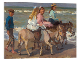 Foam board print  To ride a donkey - Isaac Israels