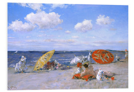 Foam board print  At the beach - William Merritt Chase