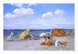 Premium poster  At the beach - William Merritt Chase