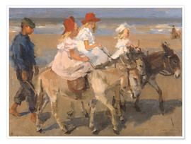 Isaac Israels - Donkey rides on the beach