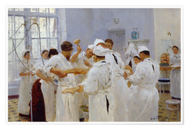 Premium poster The surgeon Evgeny Pavlov in the operating room