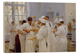 Wood  The surgeon Evgeny Pavlov in the operating room - Ilya Efimovich Repin