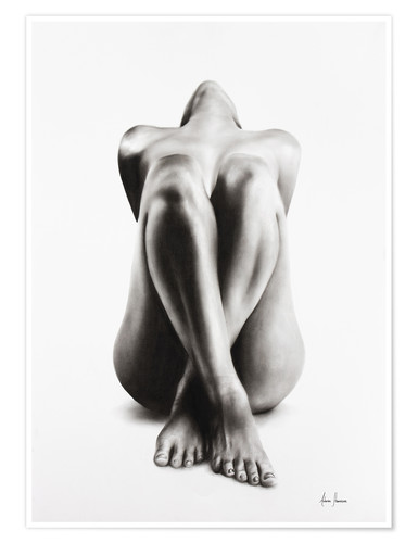 Premium poster Charcoal Nude Study 63