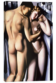 Canvas  Adam and Eve  - Tamara de Lempicka