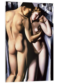 Foam board print  Adam and Eve - Tamara de Lempicka