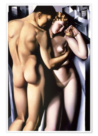 Poster  Adam and Eve - Tamara de Lempicka