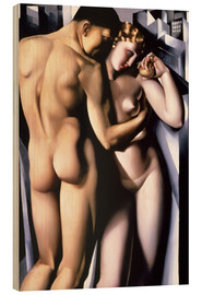 Wood print  Adam and Eve - Tamara de Lempicka