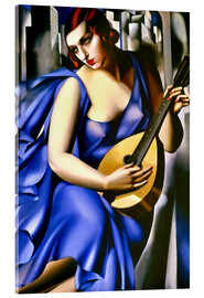 Acrylic glass  The musician - Tamara de Lempicka