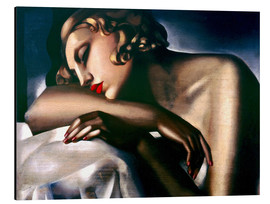 Alu-Dibond  The Sleeping Girl - Tamara de Lempicka