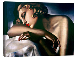 Canvas  The Sleeping Girl - Tamara de Lempicka