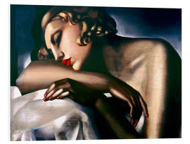 Foam board print  The sleeper - Tamara de Lempicka