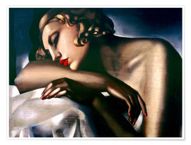 Poster  The sleeping girl - Tamara de Lempicka