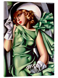 Acrylic glass  Young lady with gloves - Tamara de Lempicka