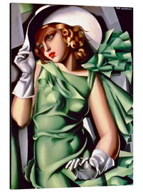 Aluminium print  Young lady with gloves - Tamara de Lempicka