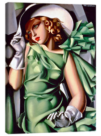 Canvas print  Young lady with gloves - Tamara de Lempicka