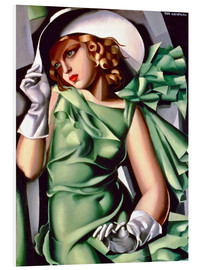 Foam board print  Young lady with gloves - Tamara de Lempicka