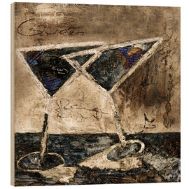 Wood print  Martini - Christin Lamade