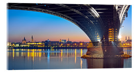 Acrylic glass  Mainz Germany  with rhine bridge - Fine Art Images